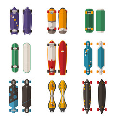 different skateboards set vector image