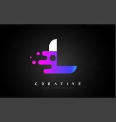 Dots letter l logo design letter l icon with vector