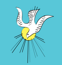 Dove holyspirit sketch vector