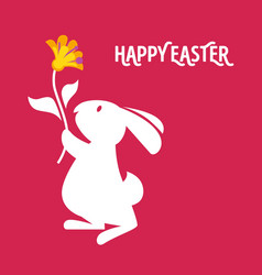 easter cartoon greeting card vector image