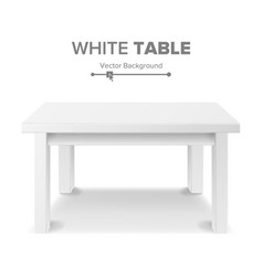 Empty white plastic table isolated on white vector