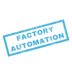 Factory Automation Rubber Stamp vector image