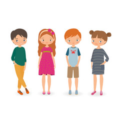 fashion stylish kids vector image