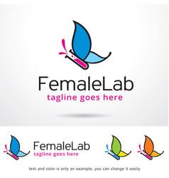 Female lab logo template vector