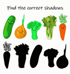 find right shade vegetable educational vector image