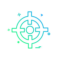 Focus icon design vector