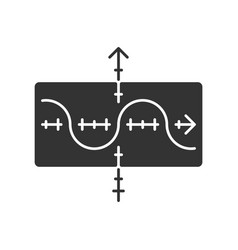 Function graph glyph icon duplicate function vector