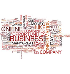 Great online business opportunities vs outright vector