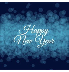 Happy new year card light background vector