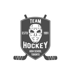Hockey logo badge design elements vector
