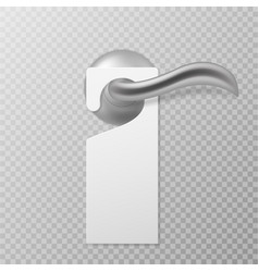 hotel door handle white blank plastic hanger vector image