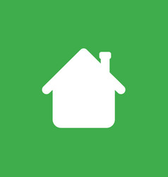icon concept of house arrow showing up on green vector image