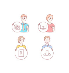 internet attachment and accounting report icons vector image