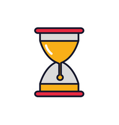 isolated sand hourglass icon fill design vector image