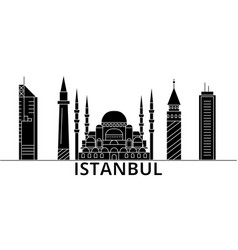 Istanbul architecture city skyline travel vector