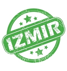 Izmir green stamp vector