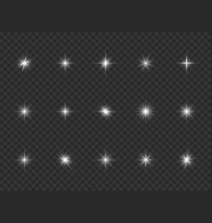 light effect white starburst sparks bright vector image