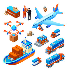 logistics delivery transport vector image