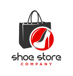 logo design shoes and womens handbag shop vector image