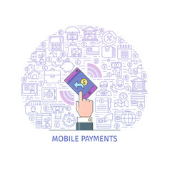 mobile payments concept vector image