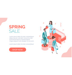 modern isometric people characters with goods vector image