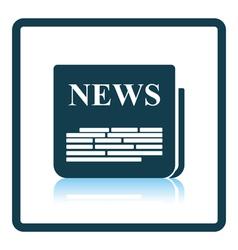 Newspaper icon vector image