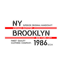 ny brooklyn typography design varsity vector image