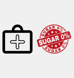 outline first-aid case icon and distress vector image