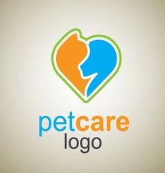 Pet care logo 1 vector