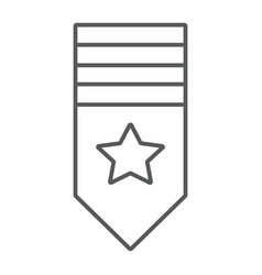 rank shoulder thin line icon badge and army vector image