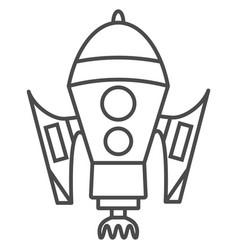 Rocket icon isolated sign vector
