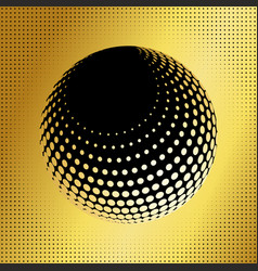 Set abstract halftone 3d spheres 36 vector