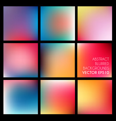 set of abstract blurred backgrounds vector image