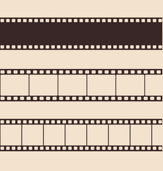 set vintage film strip vector image