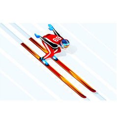 skier jumping winter sports vector image