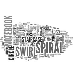 Spiral word cloud concept vector