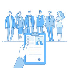 staff recruitment human resources selection vector image