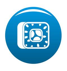 sushi icon blue vector image