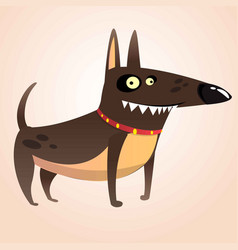 tough doberman pinscher cartoon vector image