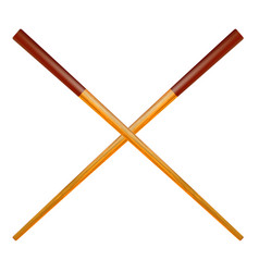 traditional colored asian chopsticks vector image