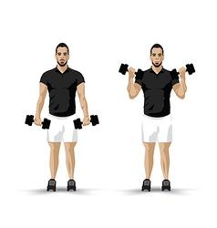 training dumbbell vector image