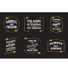 Typographic Quote Template Template Set vector
