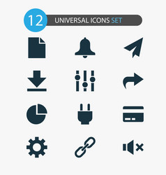 User icons set collection of socket downloading vector
