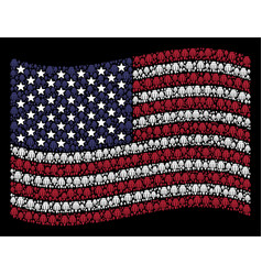 Waving united states flag stylization of opium vector