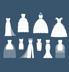 wedding white bride dress elegance fashion vector image