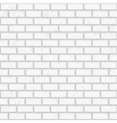 White seamless brick wall vector image