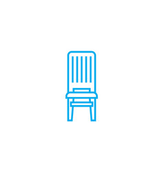 Wooden chair linear icon concept wooden chair vector
