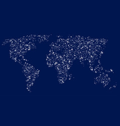 World map in the form of glittering stars vector