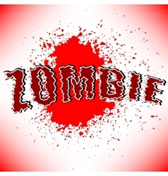 Zombie Title vector