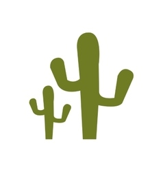 green cactus plant vector image vector image